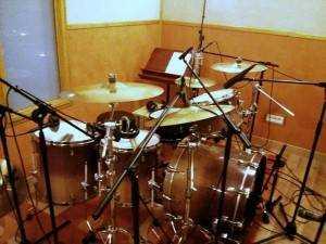 grabación bateria Javier Cabrese