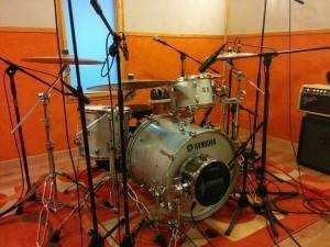Grabación baterías Manu Tenorio