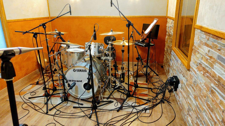 Grabación baterías Lucía Gil